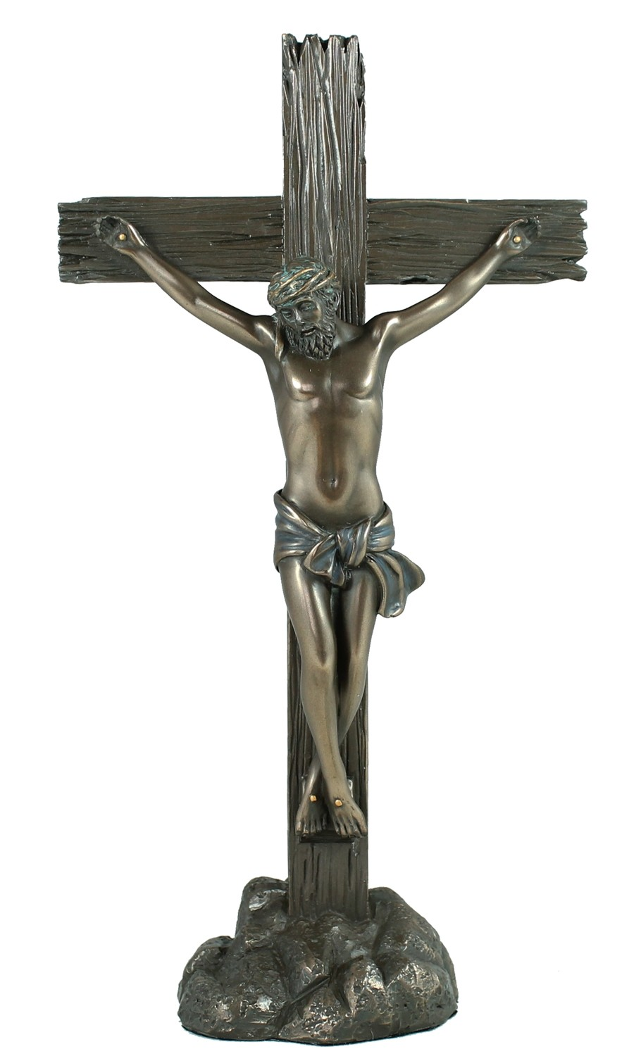 Figur, Skulptur Jesus am Kreuz Kruzifix Christus Opfer Chris