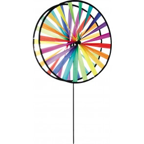 HQ Windpsiel Magic Wheel Giant Duett Rainbow Garten Dekoration