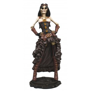 Figur Steampunk Skelett Lady Science-Fiction Deko Dekoration